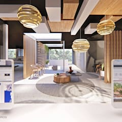 Reception Area - Waiting Room:  Offices & stores by OMNI Architects