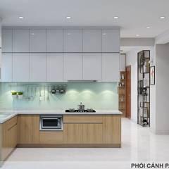 ห้องครัวขนาดเล็ก by Công ty TNHH Nội Thất Mạnh Hệ