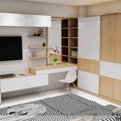 Designer:  Phòng ngủ nhỏ by Công ty TNHH Nội Thất Mạnh Hệ,