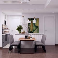 Những mẫu thiết kế nội thất chung cư đẹp nhất phong cách Scandinavian 2019:  Phòng ăn by Kiến trúc Doorway