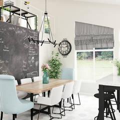 Дизайн загородного дома 230 кв. м в скандинавском стиле: Столовые комнаты в . Автор – ЕвроДом