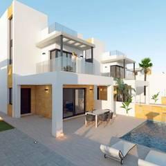 Villas Sunlife Habaneras : Villas de estilo  de VAQUERO&WORKGROUPS