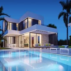 Villas Seaview: Villas de estilo  de VAQUERO&WORKGROUPS