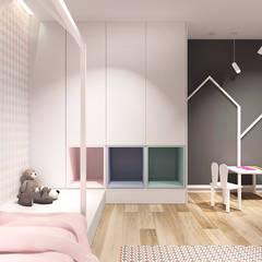 غرفة نوم بنات تنفيذ IN studio projektowania wnętrz,