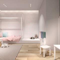 pokój dziecka: styl , w kategorii Pokój dla dziwczynki zaprojektowany przez IN studio projektowania wnętrz