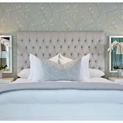 Luxury blue bedroom :  Bedroom by Joseph Avnon Interiors, Classic