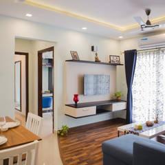 Dining room by HomeLane.com, Asian