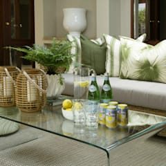 Nature inspired living spaces:  Patios by Joseph Avnon Interiors, Classic