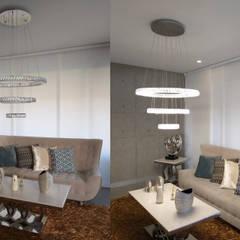 Iluminación y decoración: Habitaciones pequeñas de estilo  por Iconica home gallery