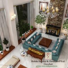 Living room by Rishika Interior & Developer (p) Ltd., Modern