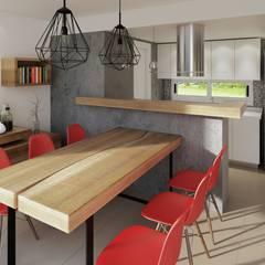 Reforma cocina comedor: Cocinas a medida  de estilo  por laura zilinski arquitecta