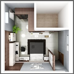 interior kamar anak di jl. patiunus raya, semarang: Kamar Tidur oleh SUKAM STUDIO,