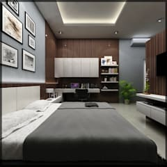 interior kamar anak di jl. patiunus raya, semarang:  Kamar Tidur by SUKAM STUDIO