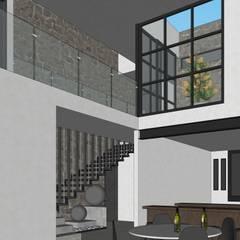 Casa MLL-1: Escaleras de estilo  por Ipsum Nova, Minimalista