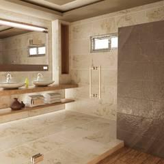 Remodelacion de Casa Habitación en Sonora OLLIN ARQUITECTURA: Baños de estilo  por OLLIN ARQUITECTURA ,
