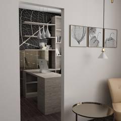 Biuro: styl , w kategorii Domowe biuro i gabinet zaprojektowany przez d.b.mroz@onet.pl