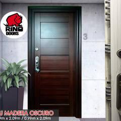 Puertas Blindadas de Acero : Puertas principales de estilo  por Puertas y Blindajes