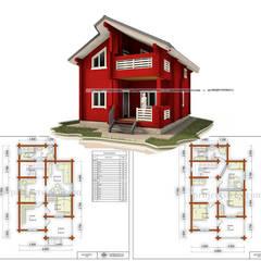 Деревянный дом из бруса: Деревянные дома в . Автор – Projectstroy