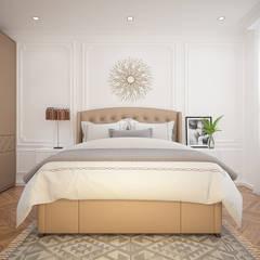 THIẾT KẾ NỘI THẤT CĂN HỘ JAMILA:  Phòng ngủ by VAN NAM FURNITURE & INTERIOR DECORATION CO., LTD.,
