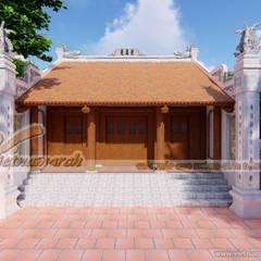 Thiết kế nhà thờ họ 3 gian 2 mái tại Hải Dương:  Nhà gia đình by Công ty TNHH Xây dựng Vietnamarch
