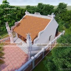 Thiết kế nhà thờ họ 3 gian 2 mái tại Hải Dương:  Nhà by Công ty TNHH Xây dựng Vietnamarch