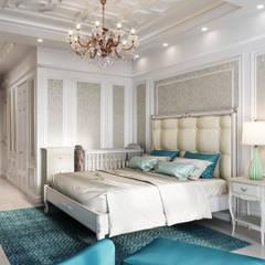 :  Small bedroom by Дизайн интерьера Киев|tishchenko.com.ua