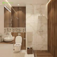 Дизайн однокомнатной квартиры 41 кв. м в современном стиле: Ванные комнаты в . Автор – ЕвроДом