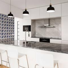 Moradia T5 Alvalade - Lisboa: Cozinhas  por EU LISBOA,