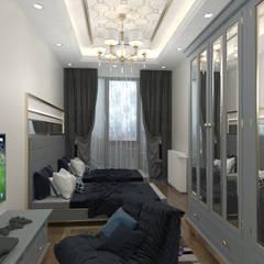 Altuncu İç Mimari Dekorasyon – Bahçeşehir Akbatı Garanti Koza Evleri Erkek Çocuk Odası Tasarımı:  tarz Çocuk Odası