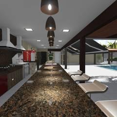 Casa de Campo em Cordeirópolis Adegas rústicas por 88 Arquitetura Rústico