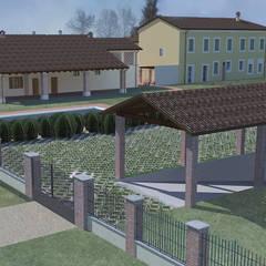 Casas de campo de estilo  por Antonella Mora