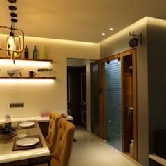 Dining room by hiren, Rustic لکڑی Wood effect