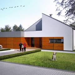 Dom jednorodzinny : styl , w kategorii Dom jednorodzinny zaprojektowany przez Warsztat Architektury UNREAL12 Rafał Lipiński,