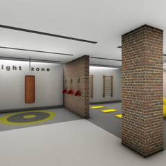 Projekty,  Siłownia zaprojektowane przez Bonomiveras Arquitetura