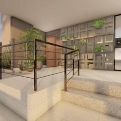 Hall de Entrada: Corredores e halls de entrada  por Bonomiveras Arquitetura