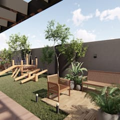 حديقة تنفيذ Bonomiveras Arquitetura
