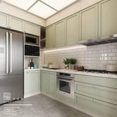 Kitchen units by 百玥空間設計,