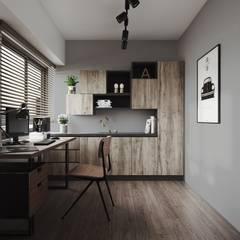 مكتب عمل أو دراسة تنفيذ 百玥空間設計