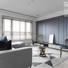 Living room by 百玥空間設計, Eclectic Concrete