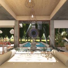 """La casa Feng Shui, """"Tierra y Cielo"""": Livings de estilo  por GUG S.R.L.,Moderno"""