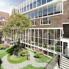 Elandsstraat 44 Moderne kantoorgebouwen van Van Wilsem & Cabri - Architectuur en Management Modern Aluminium / Zink