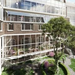 Elandsstraat 44 Moderne kantoorgebouwen van Van Wilsem & Cabri - Architectuur en Management Modern Glas