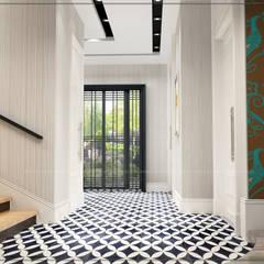 avangard mimarlık – P.Korkmaz Villası :  tarz Koridor ve Hol, Modern