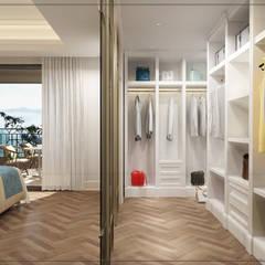 avangard mimarlık – P.Korkmaz Villası :  tarz Giyinme Odası, Modern
