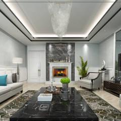 avangard mimarlık – P.Korkmaz Villası :  tarz Oturma Odası,