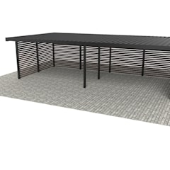 Multi+ 4 bay carport - Computer Generated Image:  Carport by wearemodern limited