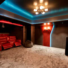 Bunglow Interiors at Dorabjee Paradise:  Media room by Finch Architects