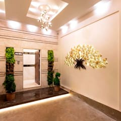 Bunglow Interiors at Dorabjee Paradise:  Corridor & hallway by Finch Architects,