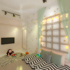 :  Girls Bedroom by CanvasInc architecture | interiors