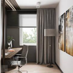 Miszkanie w Krakowie połączone z dwóch małych : styl , w kategorii Domowe biuro i gabinet zaprojektowany przez LINEUP STUDIO